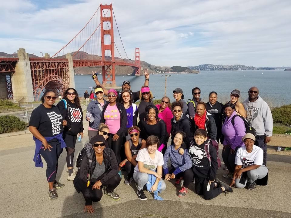 HIKING WITH HEALTH CONCSIOUS BLACK PEOPLE